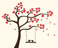 Find Vector Hearts Tree stock images in HD and millions of other royalty-free stock photos, illustrations and vectors in the Shutterstock collection. Simple Wall Paintings, Tree Wall Painting, Creative Wall Painting, Creative Walls, Diy Painting, Art Drawings Sketches Simple, Bird Drawings, Doodle Drawings, Wall Art Designs