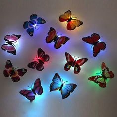 Room Ideas Bedroom, Bedroom Lamps, Rooms Home Decor, Butterfly Lamp, Butterfly Lighting, Madame Butterfly, Deco Led, Lampe Decoration, Cute Room Decor