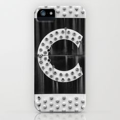"""Big """"C"""" Letter from Old Movie Theater Marquee iPhone & iPod Case by Keith Dotson - $35.00"""