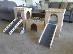 From BunsBedsAndBeyond on Etsy: Custom play houses and furniture for your small pets Bunny Beds, Bunny Room, Bunny Cages, Rabbit Cages, Rabbit Litter, Litter Box, Rabbit Toys, Bunny Rabbit, Guinea Pig House