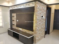 Tv Unit unit With Dressing Tv unit with wal Latest Tv Unit Designs, Modern Tv Unit Designs, Modern Tv Wall Units, Tv Cupboard Design, Wall Mounted Tv Unit, Small Tv Cabinet, Tv Wall Cabinets, Tv Unit Decor, Small Hall