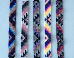 Sunburst Pattern Bead Loom Schlüsselbund mit von MichikoJewelry