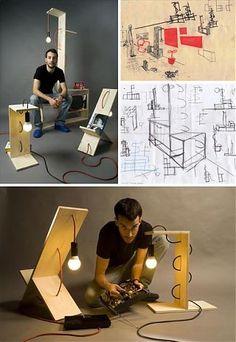 Светильник из подручных средств - Мебель своими руками - Блог - GardenWeb