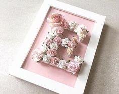 Floral Brief nach Maß / / Babyshower Geschenk / / Hochzeit Geschenk / / Geschenk Taufe
