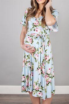 Flutter Sleeve Floral Wrap Dress
