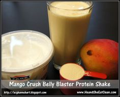 Mango Crush Belly Blaster Protein Shake recipe #eatclean #cleaneating #fitness #diet #healthy #recipe