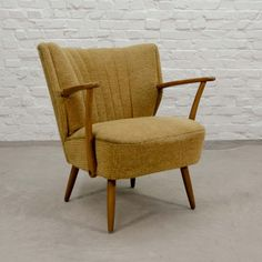 Stylish Mustard Yellow Cocktail Chair, 1950s