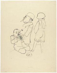 George Grosz. Dissonant Flute (Verstimmte Flöte). (1922) Smart Set, Film Studies, Vintage Artwork, Film Stills, Moma, Van Gogh, Cool Words, It Works, Berlin