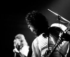Brian and John from Queen in the Sheer Heart Attack era