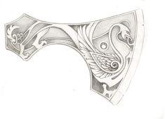 Топор с древним орнаментом. Топор, Своими руками, гравировка по металлу, длиннопост