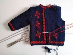 This Pin was discovered by Han Knitting Baby Girl, Knitting For Kids, Baby Knitting Patterns, Crochet Baby, Knit Crochet, Baby Pullover, Baby Cardigan, Hippie Crochet, Knit Cardigan Pattern