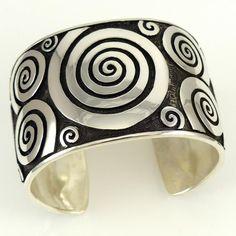 Water Swirl Cuff - Jewelry - Watson Honanie - 1