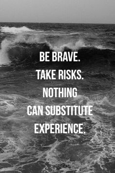 nothing can substitute experience. #NOQUITMONDAY