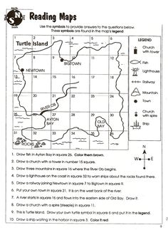 OUR ENGLISH CLASS: Reading a map worksheets | LEES | Pinterest ...