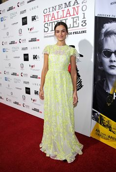 Kasia Smutniak in Valentino at the Cinema Italian Style 2013 'The Great Beauty' Opening Night Premiere