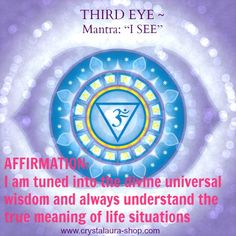 Third Eye Chakra Affirmation www.facebook.com/angelsoflight44