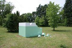 Monika Sosnowska: Ruins, 2005.  Installation view: Luna Park: Arte Fantastica, Villa Manin centro d'arte contemporanea, Passariano, Italy, June 9–November 6, 2005.  Courtesy the artist. #HBP2012 #hugoboss #bossarts #hugo