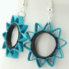 Eco Friendly Earrings Ten Pointed Star Paper Quilled Earring Artisan Jewelry. $18.50, via Etsy.