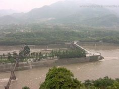Dujiangyan Irrigation System, Sichuan was built 2300 years ago. Since 2000 he whole area is protected as a World Heritage Site by UNESCO. Publshed by http://www.myvideomedia.com #travel #china