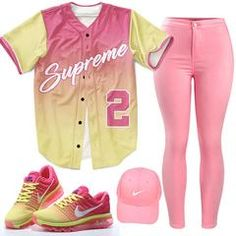 Supreme 2 Baseball Jersey Source by outfits summer Swag Outfits For Girls, Summer Outfits For Teens, Cute Swag Outfits, Cute Outfits For School, Teen Fashion Outfits, Teenager Outfits, Dope Outfits, Trendy Outfits, Girl Outfits