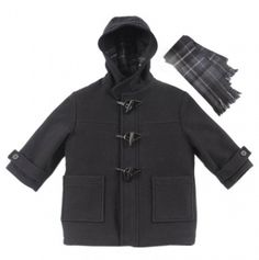 Infant Duffle Toggle Coat with Scarf
