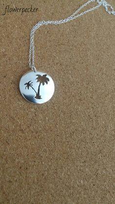 Palm tree necklace Beach jewelry Palm tree by flowerpecker on Etsy