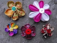 Kanzashi Flower.  Hard to say, cute to look at!