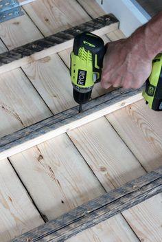 Steps for Building a Salvaged Wood Farmhouse Table Using an Existing Table #reclaimedwood #farmhousetable