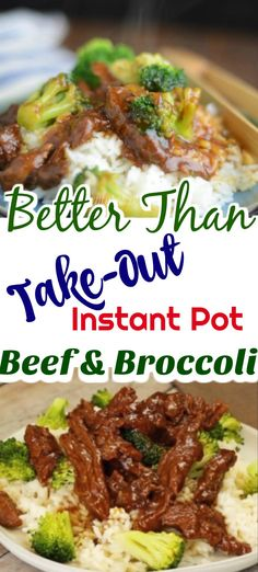Instant Pot Better than Take-Out Beef and Broccoli truly is better than take-out! pot recipes asian Better Than Take Out Instant Pot Beef and Broccoli Broccoli Beef, Broccoli Recipes, Beef Recipes, Cooking Recipes, Healthy Recipes, Recipes To Freeze, Cooking Icon, Copycat Recipes, Lunch Recipes