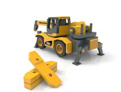 Cat Rough Terrain Crane by Lloydswoodtoyplans on Etsy