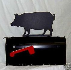 Pig Piglet Mailbox Topper Sign Steel Metal Farm Animal | eBay