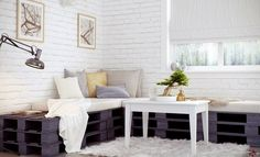 You can transform wood pallets into useful household items, living room or patio furniture and decorations. Get some creative DIY pallet furniture ideas