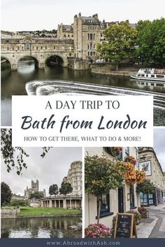 Bath is one of my favorite London day trips! Discover everything you need to know for a day trip to Bath from London. Learn the best things to do in Bath, how to get to Bath from London, and how long to spend in Bath. #bath #bathengland #londondaytrip #londondaytrips #daytripsfromlondon #daytriptobath #daytriptobathfromlondon #thingstodoinbath #bestthingstodoinbath #visitbath #unitedkingdom #england #whattodoinbath Travel Photos, Travel Tips, Travel Advice, Travel Guides, Travel Around The World, Around The Worlds, Visit Bath, Travel Abroad, Travel Europe