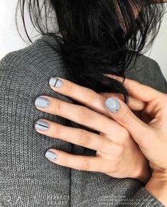 Grey Nail Art, Grey Nail Polish, Gray Nails, Neutral Nails, Leopard Nails, Gel Polish, Grey Nail Designs, Short Nail Designs, Stylish Nails