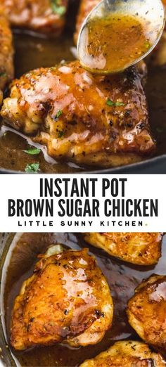 Instapot Chicken Thigh Recipe, Instant Pot Chicken Thighs Recipe, Easy Chicken Thigh Recipes, Instant Pot Dinner Recipes, Quick Dinner Recipes, Dinner Healthy, Instant Pot Pressure Cooker, Pressure Cooker Recipes, Chicken Thighs Dinner