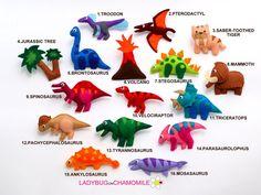 Dinosaurs felt Magnets CHOOSE YOUR ITEMS by LadybugOnChamomile