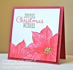 Popped up poinsettias with Joyful Christmas