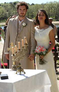 Secreto de Puenteviejo: Tristán y Pepa el día de su boda