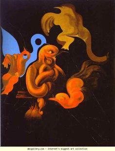 Max Ernst. After Us Motherhood. 1927. Oil on canvas. 146.5 x 114.5 cm. Kunstsammlung Nordrhein-Westfalen, Düsseldorf, Germany.