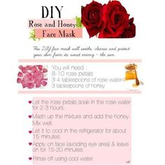 DIY Rose & Honey Face Mask #skincare #rose #facemask #honey #DIY #howto #stepbystep AWESOME FACEMASK IDEA ! Get this and more at http://bellashoot.com!