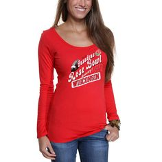 Wisconsin Badgers Women's 2013 Rose Bowl Champions Long Sleeve T-Shirt - Red - $11.99