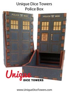 Police Box Unique Dice Tower