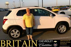 https://flic.kr/p/Kq8XC3 | Happy Anniversary to Linda on your #Chevrolet #Trax from Steve Ragan at Britain Chevrolet Cadillac! | deliverymaxx.com/DealerReviews.aspx?DealerCode=I827