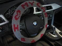 Knit Steering Wheel Cozy - true grey/burgundy by ytang Car Life Hacks, Home Crafts, Diy Crafts, Car Accessories For Guys, Social Determinants Of Health, Craftsman Style Homes, Crafts To Make And Sell, Tree Patterns, Diy For Girls
