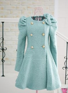 Beyond Adorable Bow Decorated Dress Coat With Faux Fur Detachable Scarf - Coats & Jackets