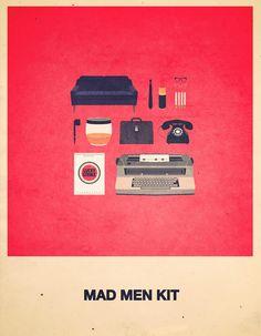 Mad Men Kit - Movies Hipster Kit, Alizée Lafon / Minimal Movies and series TV Poster