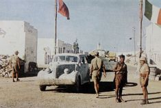 North Africa: italian and german sentry on the outskirts of Bardia, april 1941 - pin by Paolo Marzioli