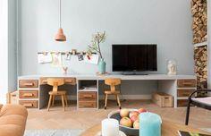 Wandplanken tv en kinder speelhoek (vtwonen)