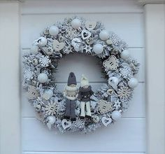 Clarah / Vianočný veniec Hanukkah, Diy And Crafts, Wreaths, Holiday Decor, Christmas, Home Decor, Art, Yule, Homemade Home Decor