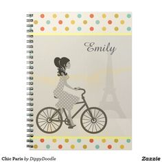 Chic Paris Personalized Girly Notebook
